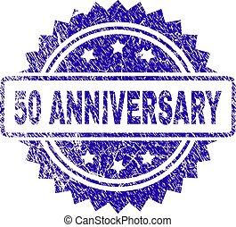 Grunge 50 ANNIVERSARY Stamp Seal