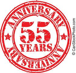 grunge, 55, anni, anniversario, gomma