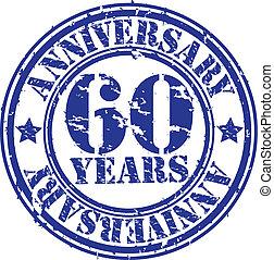 grunge, 60, anni, anniversario, gomma