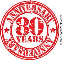 Grunge 80 years happy birthday rubb