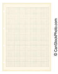 grunge a4 graph paper - Sheet of a4 graph paper with aged...