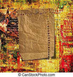 grunge, abstract, achtergrond, met, oud, gescheurd, affiches