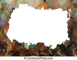 Grunge abstract  autumn frame