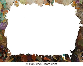 Grunge abstract autumn frame