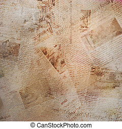 Grunge abstract background with old newspaper - Grunge...