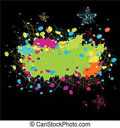 Grunge abstract Color explosion