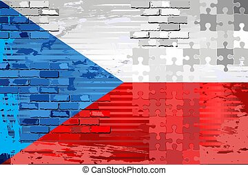 Grunge Abstract flag of the Czech Republic