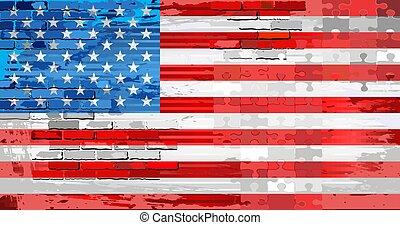 Grunge Abstract flag of USA