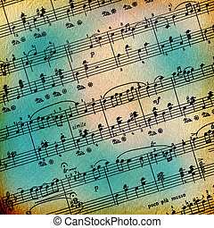 Grunge abstract musical background for advertisement or ...