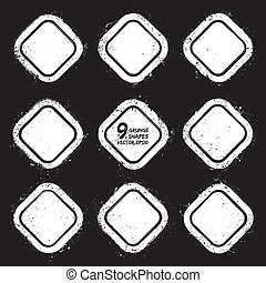 Grunge abstract textured vector badges