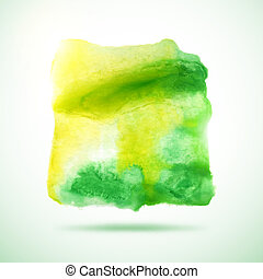 grunge, abstract, watercolor, achtergrond., vector, kwak
