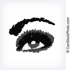 Grunge abstraction grey make-up. Vector