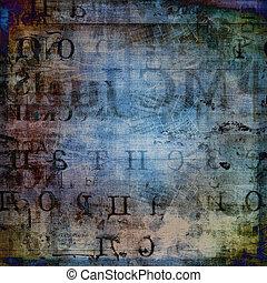 grunge, abstrakcyjny, porwany, stary, tło, afisze
