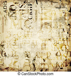 grunge, abstrakt, baggrund, hos, gamle, riv, plakater