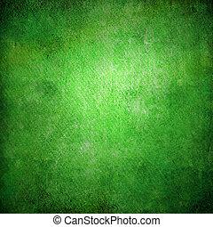 grunge, abstrakt, beschaffenheit, papier, grüner hintergrund, oder