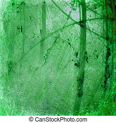 grunge, abstrakt, grön fond, strukturerad, lysande, knäckt