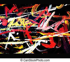 grunge, abstraktní, grafické pozadí