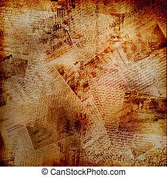 grunge, abstraktní, grafické pozadí, s, dávný, noviny