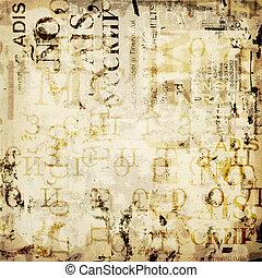 grunge, abstraktní, grafické pozadí, s, dávný, příč.min. od...