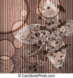 grunge, abstratos, fundo, borboleta, vetorial