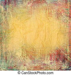 grunge, abstratos, textura, papel, fundo, ou