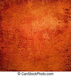 grunge, abstratos, textura, papel, fundo, ou, vermelho