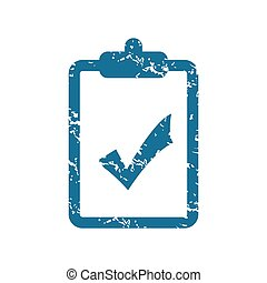 Grunge accepted document icon