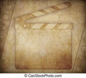 grunge, achtergrond, bioscoop