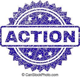 Grunge ACTION Stamp Seal
