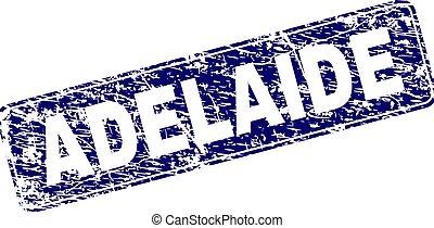 Grunge ADELAIDE Framed Rounded Rectangle Stamp