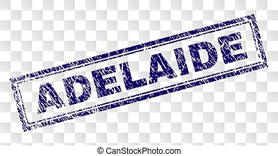 Grunge ADELAIDE Rectangle Stamp