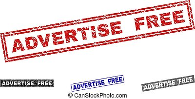 Grunge ADVERTISE FREE Scratched Rectangle Watermarks