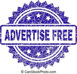 Grunge ADVERTISE FREE Stamp Seal
