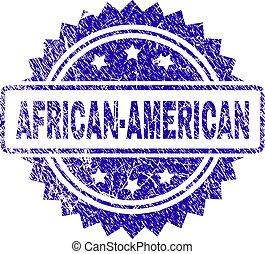 Grunge AFRICAN-AMERICAN Stamp Seal