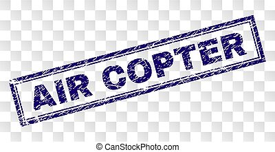 Grunge AIR COPTER Rectangle Stamp