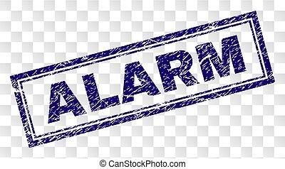Grunge ALARM Rectangle Stamp