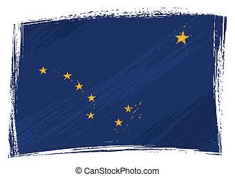 Grunge Alaska flag - State of Alaska flag created in grunge...