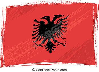 Grunge Albania flag - Albania national flag created in...