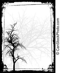 grunge, albero