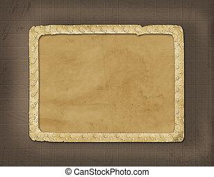 Grunge album with ornamental frame for photos