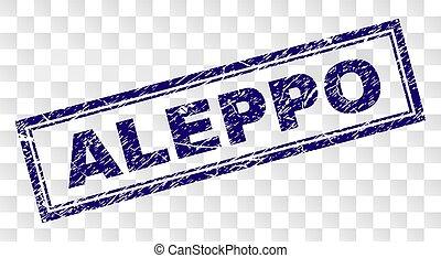 Grunge ALEPPO Rectangle Stamp