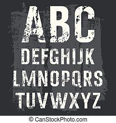grunge, alfabet