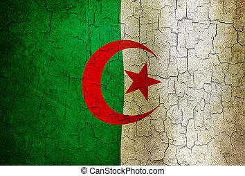Grunge Algeria flag