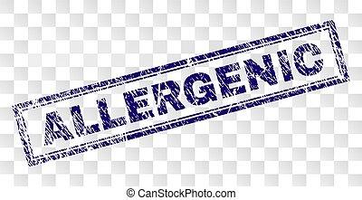 Grunge ALLERGENIC Rectangle Stamp