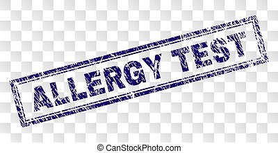Grunge ALLERGY TEST Rectangle Stamp