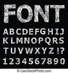 grunge, alphabet.