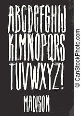 Grunge Alphabet vector set for your design