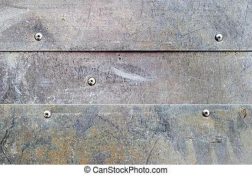 grunge aluminium background - banded grunge dirty aluminium ...
