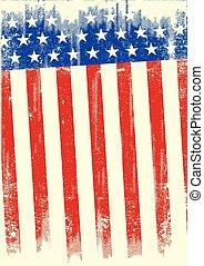grunge, américain, bannière