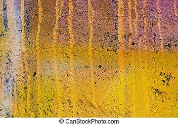 grunge, amarela, parede pintada